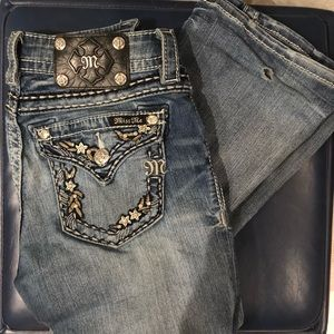 Miss Me Pants - Miss Me Flourish Embroidered Boot Cut Jean Size 25